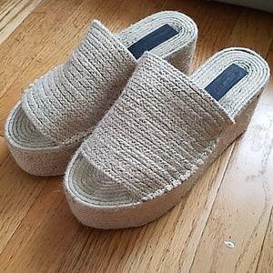 Zara Straw Slide Sandals